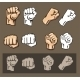 Fists Vector Set - GraphicRiver Item for Sale