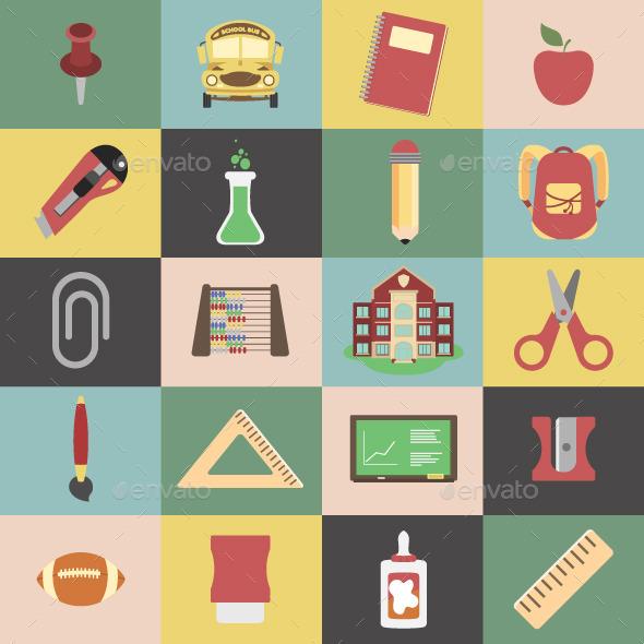 20 School Vectors Package - Miscellaneous Conceptual