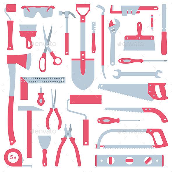 Tools Set - Objects Vectors