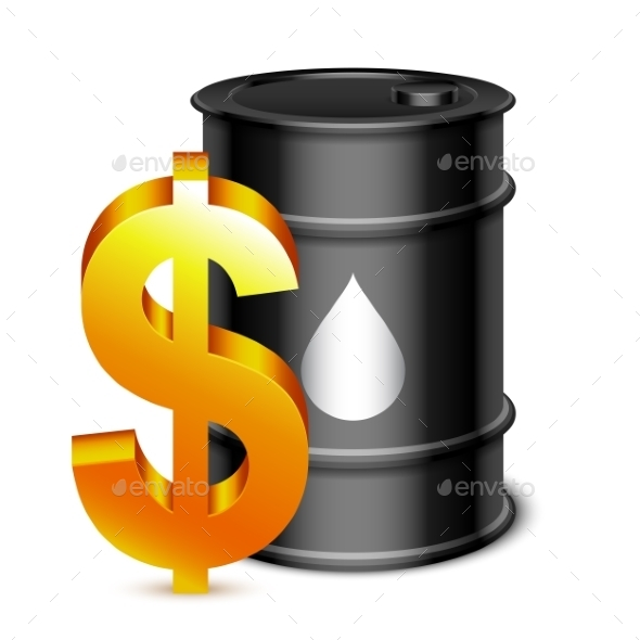 Oil Barrel and Dollar Sign - Industries Business