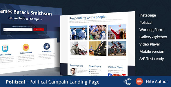 Political - Campaign Instapage Template - Instapage Marketing