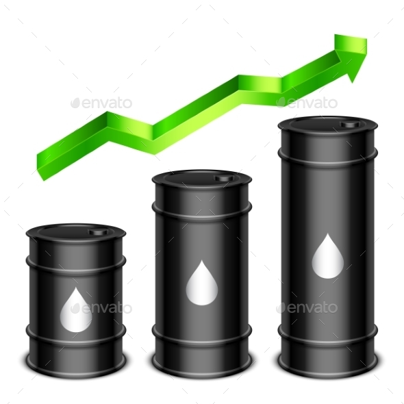 Rising Oil Price Concept - Industries Business