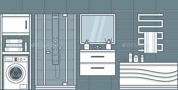 Bathroom - Vectors