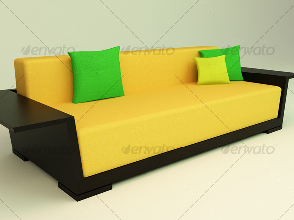 3D Sofa - 3DOcean Item for Sale