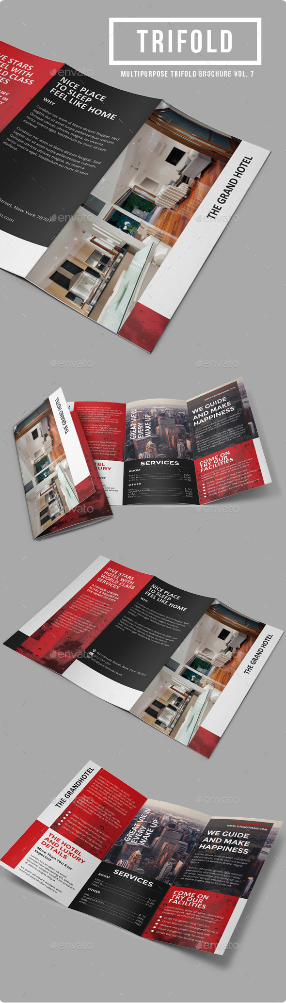 Sun Hotel - Multipurpose Trifold Brochure Vol. 7 - Informational Brochures