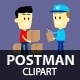 Postman Clipart - GraphicRiver Item for Sale