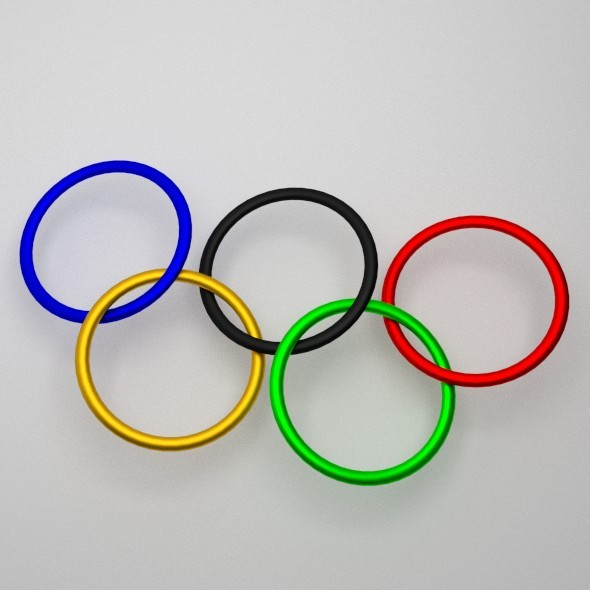 Olympic Rings - 3DOcean Item for Sale
