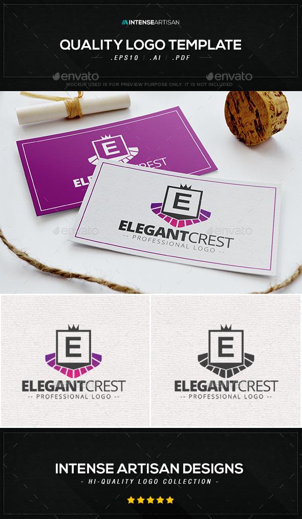 Elegant Crest Logo Template - Crests Logo Templates