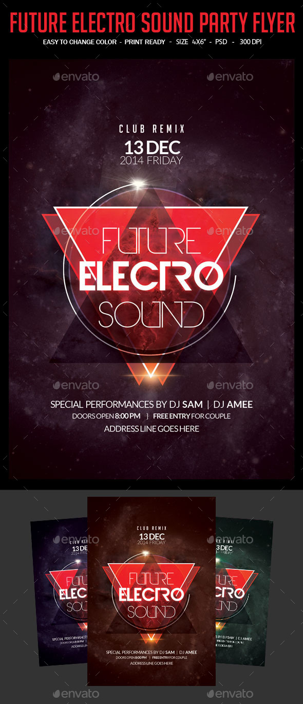 Future Electro Sound Party Flyer - Clubs & Parties Events