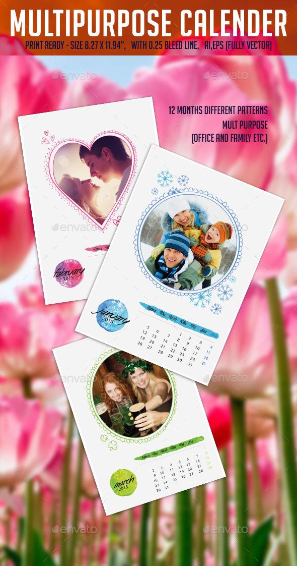 Multipurpose Calander 2015 - Calendars Stationery
