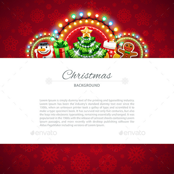 Red Christmas Background with Copy Space - Christmas Seasons/Holidays