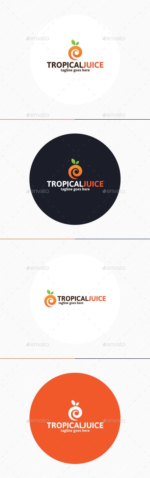 Tropical Juice Logo - Food Logo Templates