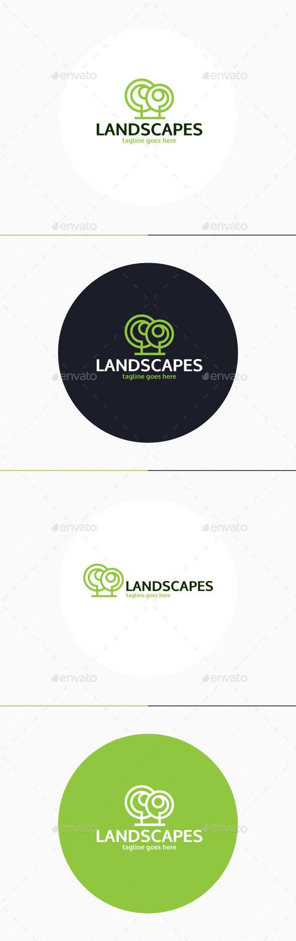Landscapes Logo - Nature Logo Templates