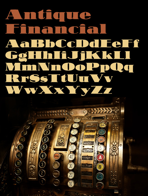 Antique Financial Font - Serif Fonts