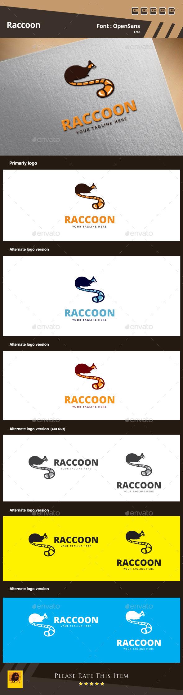 Raccoon Logo Template - Animals Logo Templates