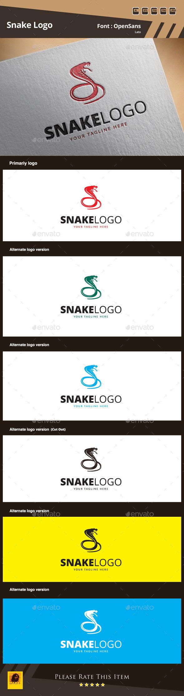 Snake Logo Template - Animals Logo Templates