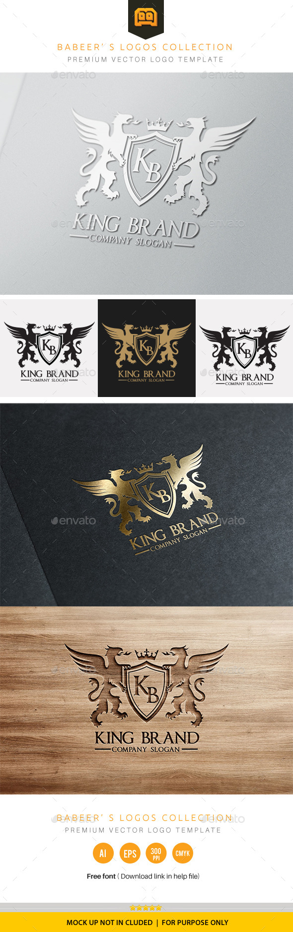 King Brand - Crests Logo Templates