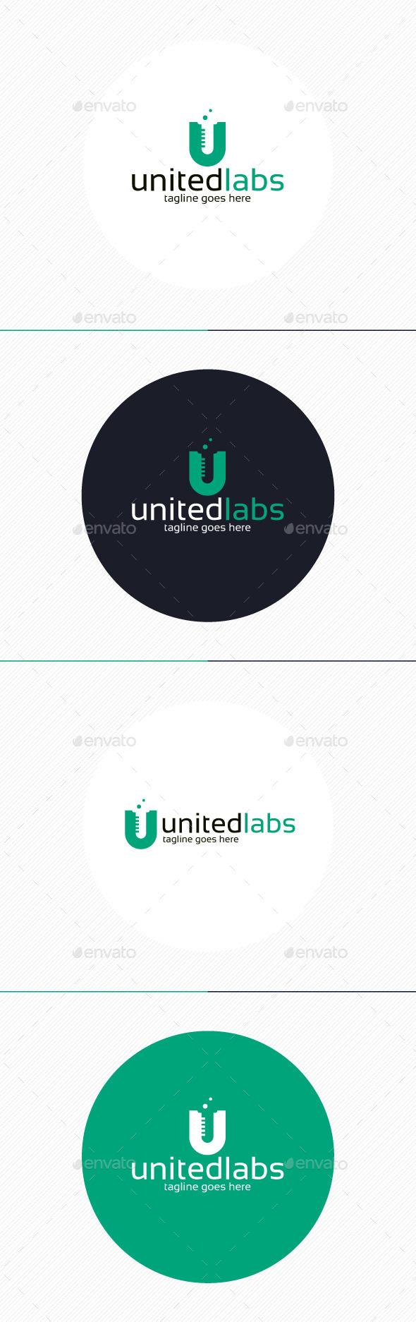 United Labs Logo • Letter U - Letters Logo Templates