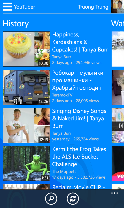YouTube Application For Windows Phone 8, 8.1 By