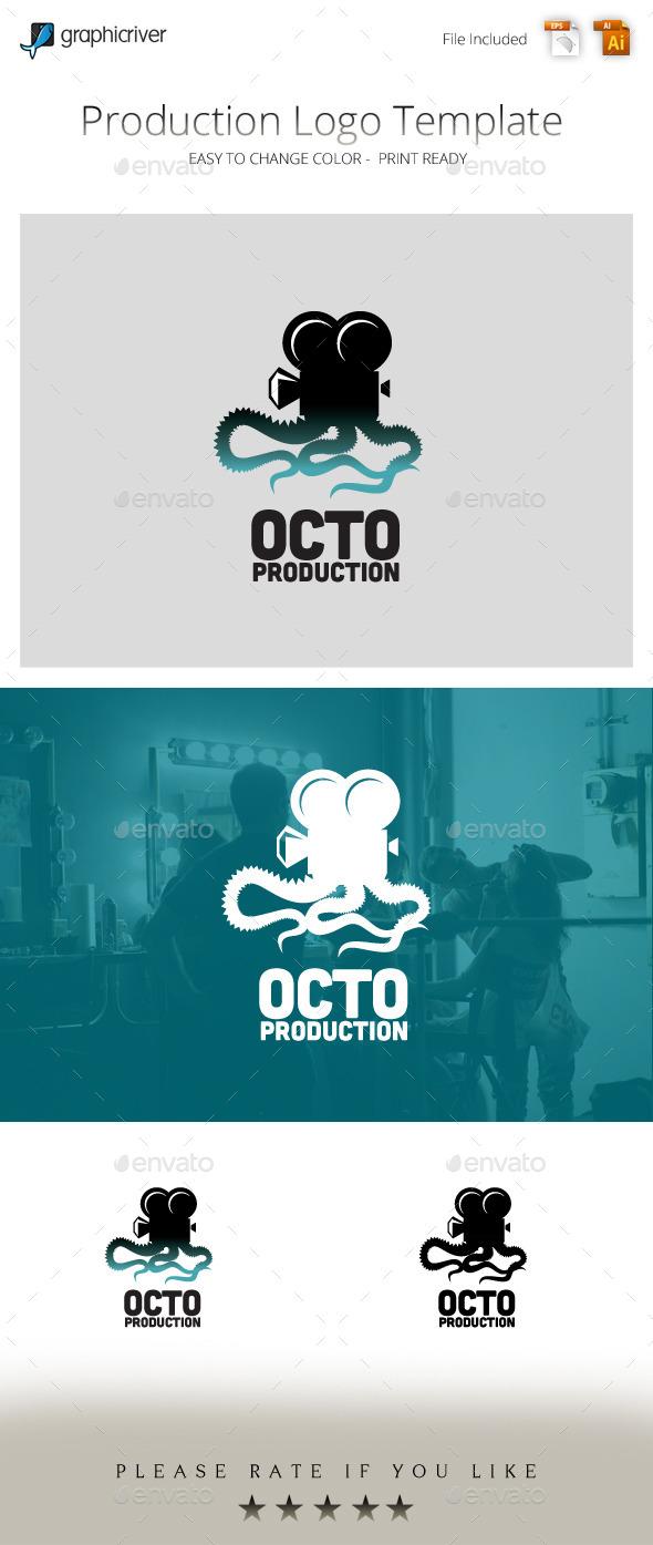 Octo Production Movie Studio Logo - Animals Logo Templates