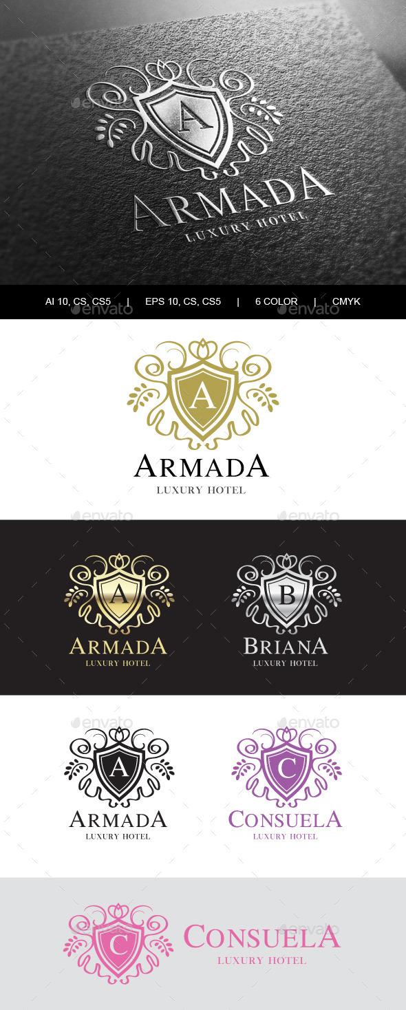 Heraldic Royalty Logo - Crests Logo Templates