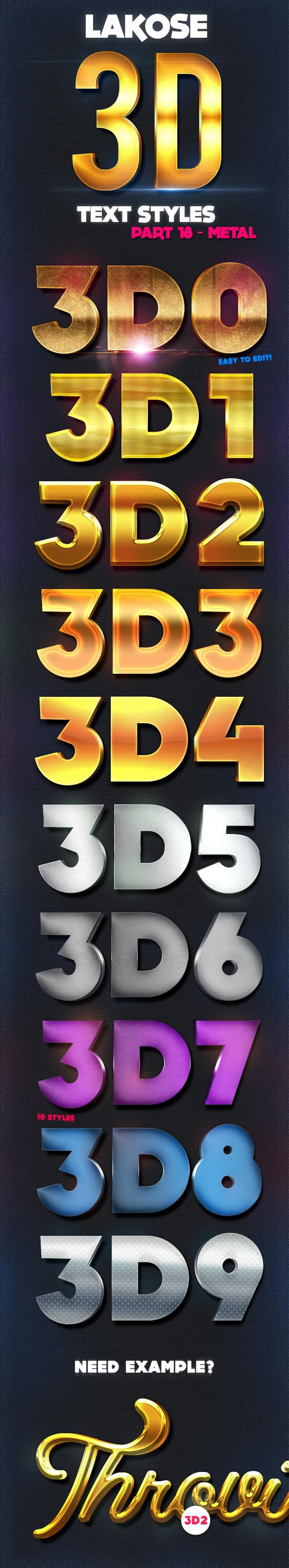 Lakose 3D Text Styles Part 18 - Text Effects Styles