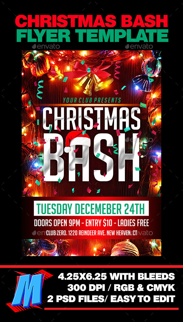 Chrismas Bash Flyer Template - Clubs & Parties Events
