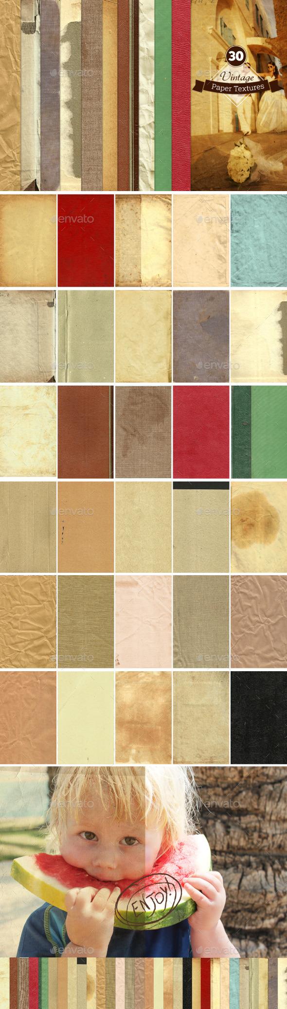 30 Vintage Paper Textures - Paper Textures