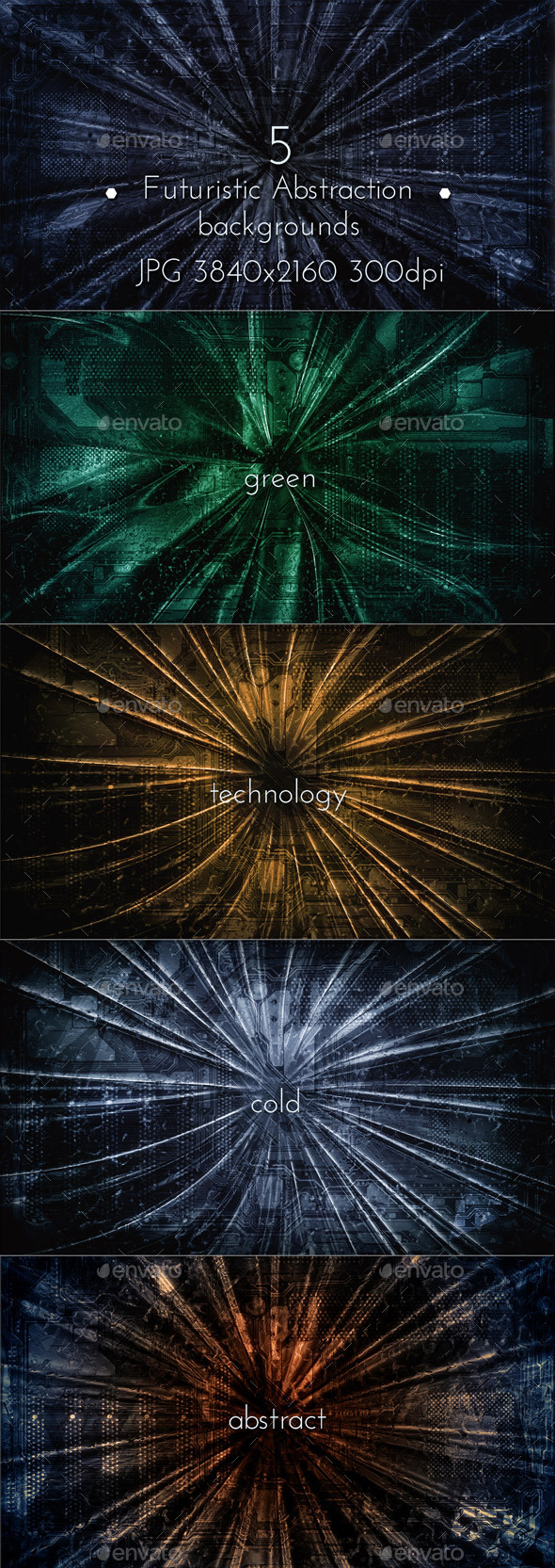 Futuristic Abstraction Collection - Tech / Futuristic Backgrounds