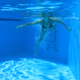 Woman Swim In Blue Pool 4 - VideoHive Item for Sale
