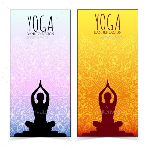 Yoga Banner Collection By Chuhastock Graphicriver