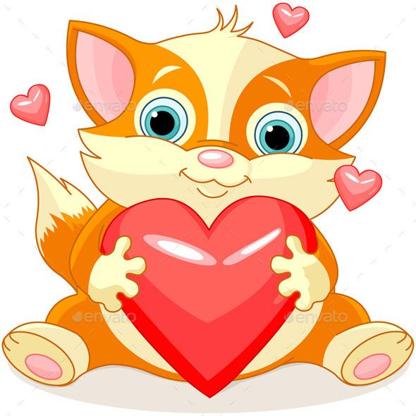 Valentines Kitten - Valentines Seasons/Holidays