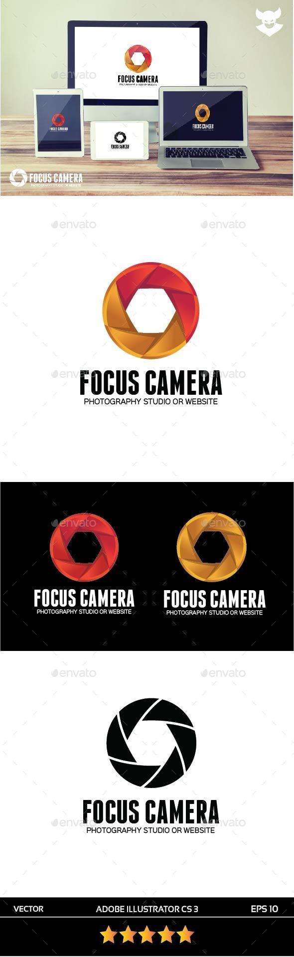 Focus Camera Logo - Objects Logo Templates