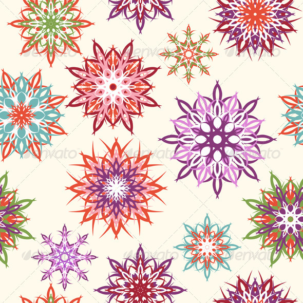 Floral Seamless Pattern - Patterns Decorative
