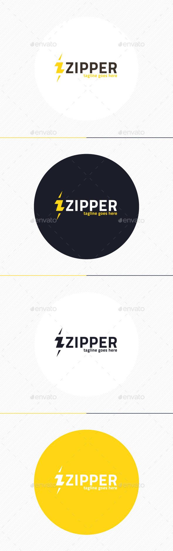 Zipper Logo • Letter Z - Letters Logo Templates