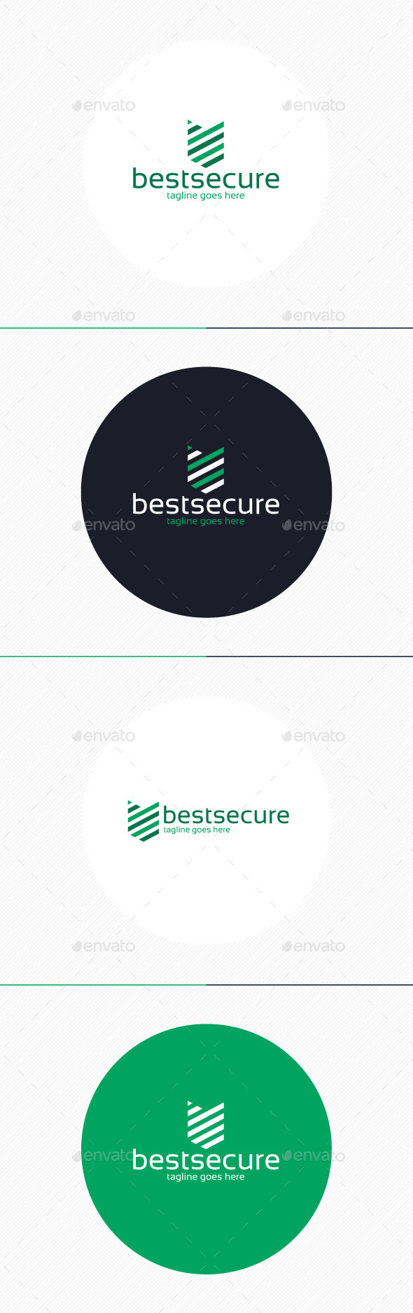 Best Secure Logo - Vector Abstract