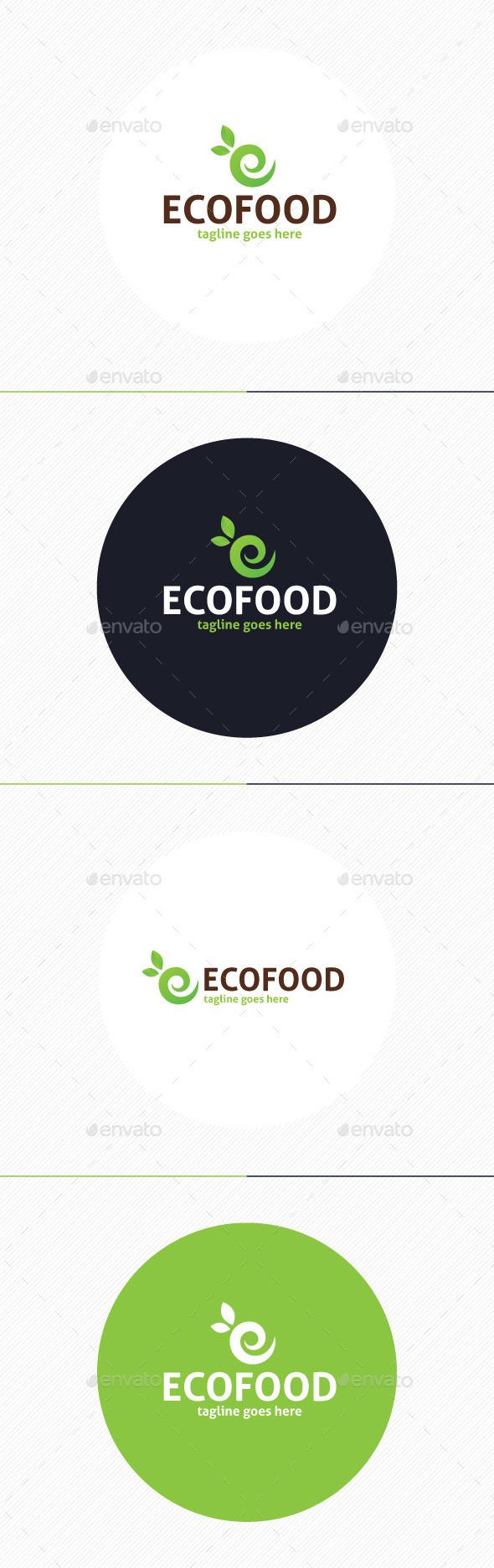 Eco Food Logo • Letter E - Food Logo Templates