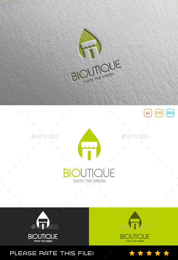 Green Boutique Logo - Vector Abstract