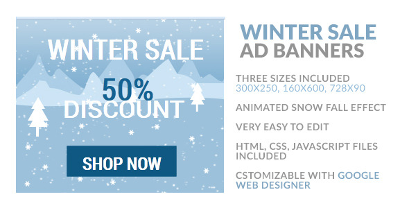 Winter Sale HTML5 Ad Banner - CodeCanyon Item for Sale