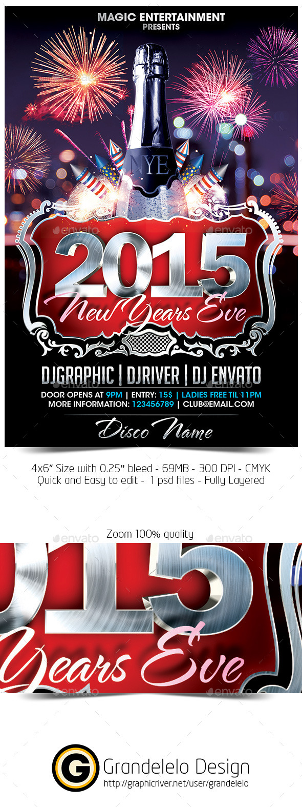 The 2015 NYE Flyer Template - Holidays Events