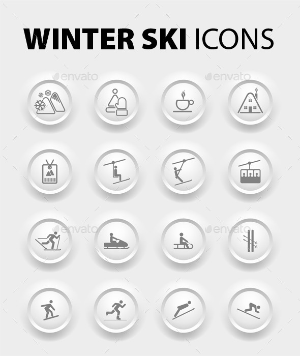 Winter Icons  - Sports/Activity Conceptual