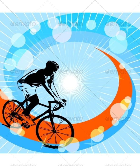 Cyclist  - Sports/Activity Conceptual