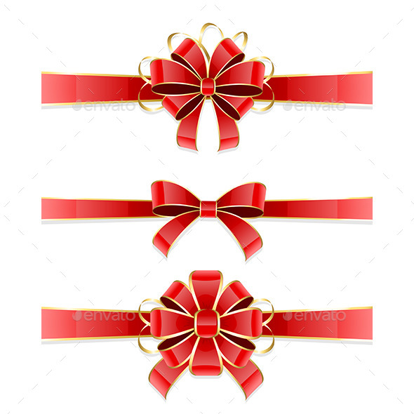 Set of Bows - Decorative Symbols Decorative