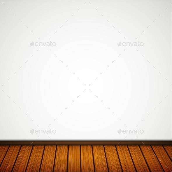 Wall with Wooden Floor - Miscellaneous Vectors