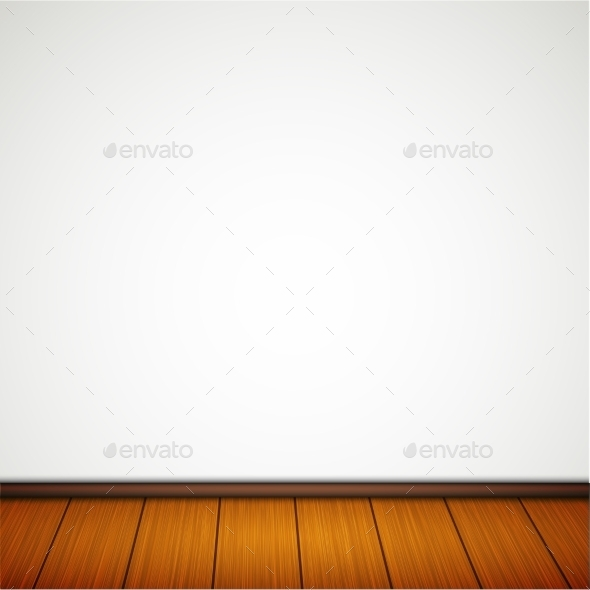 Wall with Wooden Floor - Miscellaneous Vectors