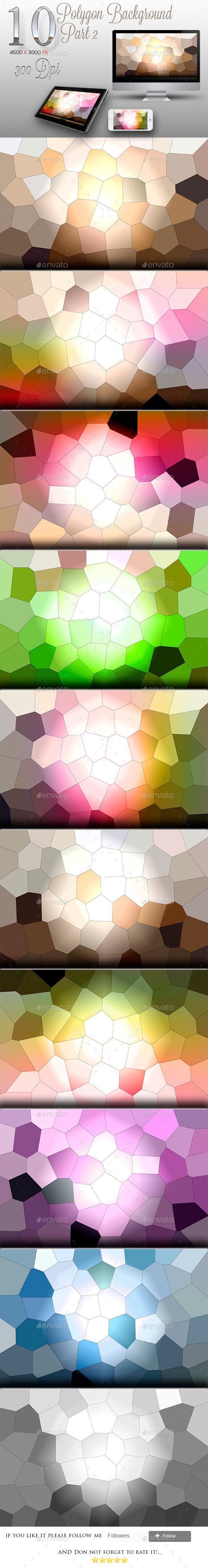 10 Backgrounds Polygon Texture Part 2 - Backgrounds Graphics