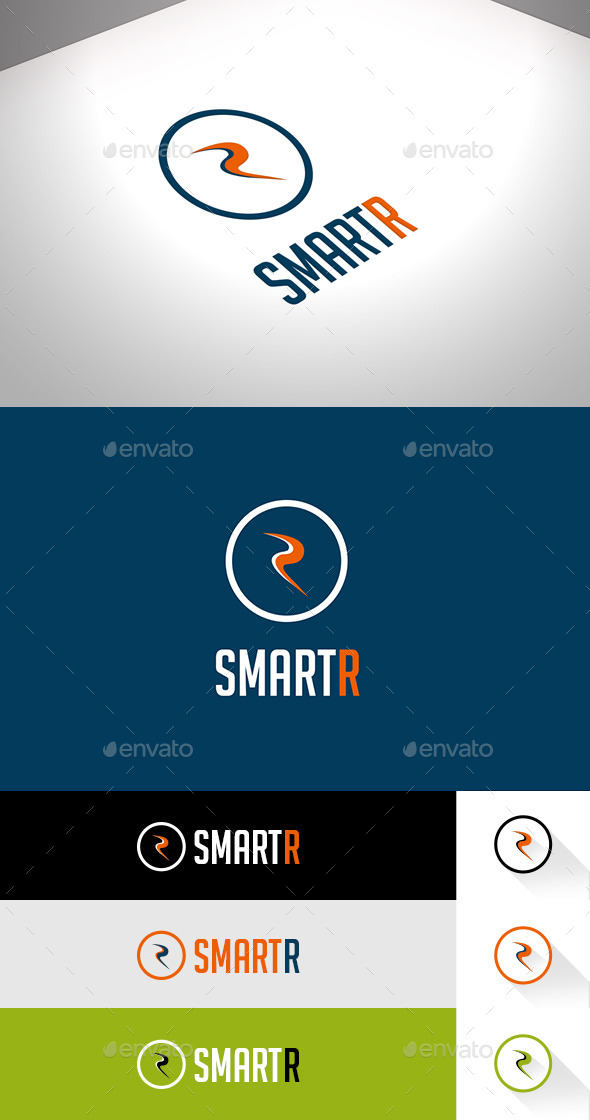 SmartR Business Flat Logo - Letters Logo Templates