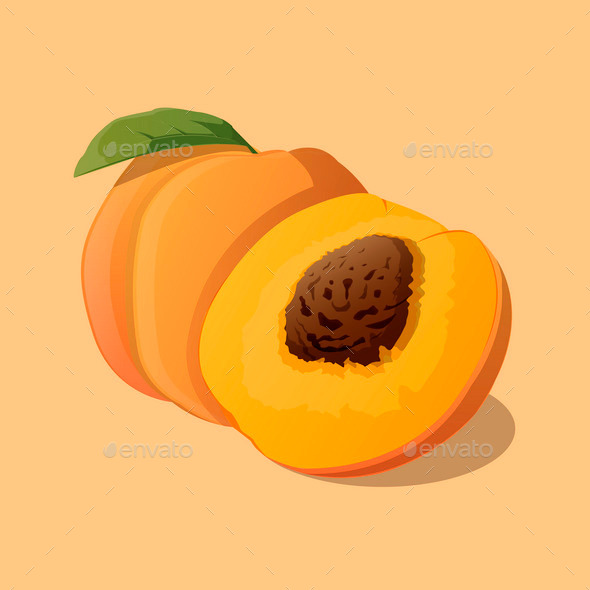 Peach - Food Objects