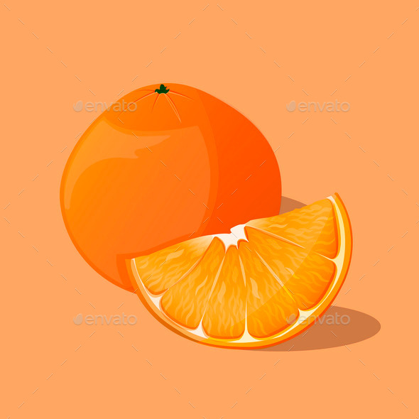 Orange - Food Objects
