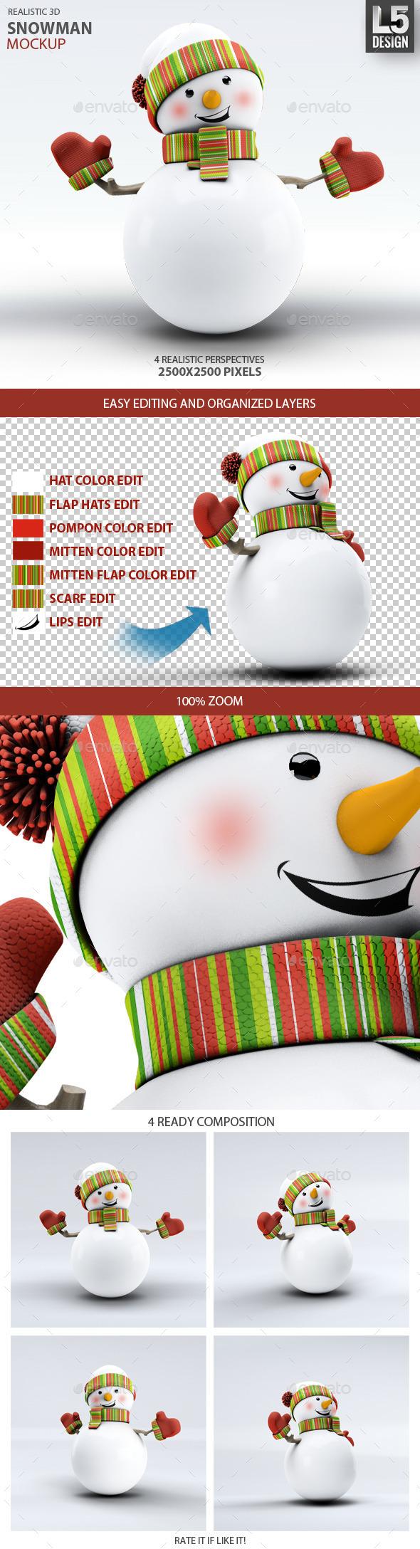 Snowman Mock-Up - Miscellaneous Print